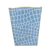 Blue Croc Tole Wastebasket | Gracious Style
