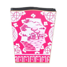 Canton Pink Tole Wastebasket | Gracious Style