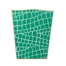 Emerald Croc Tole Wastebasket | Gracious Style