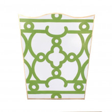 Ming Green Tole Wastebasket | Gracious Style