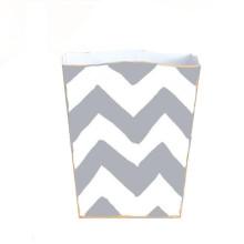 Bargello Grey Tole Wastebasket | Gracious Style