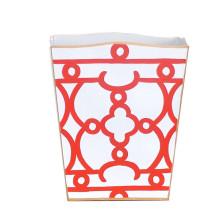 Orange Ming Tole Wastebasket | Gracious Style