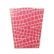 Pink Croc Tole Wastebasket | Gracious Style