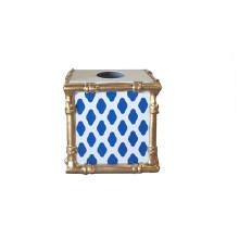 Navy Parsi Bamboo Wastebasket | Gracious Style