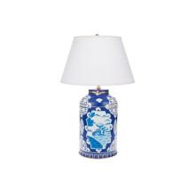 Blue Canton Tea Caddy Tole Table Lamp | Gracious Style