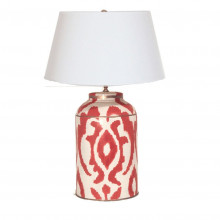 Magda Persimmon Tea Caddy Tole Table Lamp | Gracious Style