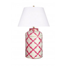 Moda Pink Tole Table Lamp | Gracious Style