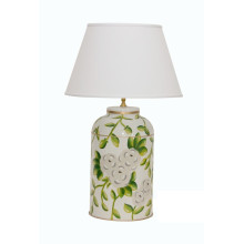 White Chintz Tea Caddy Tole Table Lamp | Gracious Style