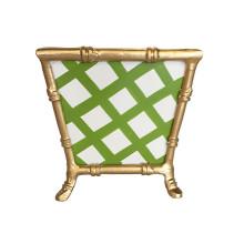 "Bamboo Green Lattice 8"" Cachepot Large | Gracious Style"