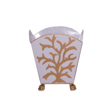 """Coral Gold 8"""" Cachepot Large 