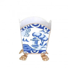 """Canton Blue 5"""" Cachepot Small 