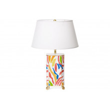 Abstract Tole Table Lamp with White Shade | Gracious Style