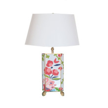 Chintz Tole Table Lamp with White Shade | Gracious Style