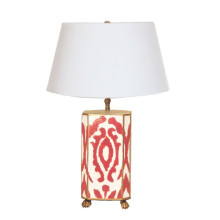Madagascar Tole Table Lamp with White Shade | Gracious Style