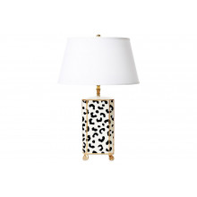 White Leopard Tole Table Lamp | Gracious Style