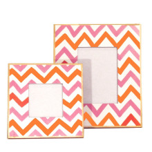 """Pink Bargello 4"""" x 4"""" Picture Frame 