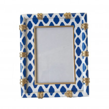 """Bamboo Parsi Navy 4"""" x 6"""" Picture Frame 