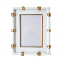 """Bamboo White 4"""" x 6"""" Picture Frame 
