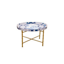 """Canton Blue 28"""" Oval Tray 