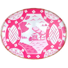 """Canton Pink 28"""" Oval Tray 