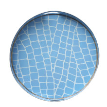 """Blue Croc Tole 16"""" Round Tray Small 