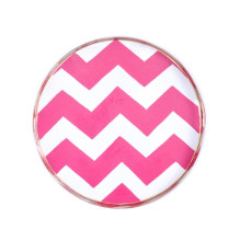 """Pink Bargello Tole 16"""" Round Tray Small 