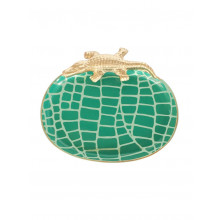 """Emerald Croc 9"""" x 7"""" Oval Tray Small 