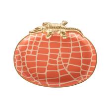 "Orange Croc 9"" x 7"" Oval Tray Small | Gracious Style"