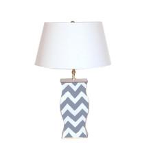 Grey Bargello Lamp | Gracious Style