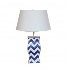 Navy Bargello Lamp | Gracious Style