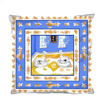 """Blue Dog 24"""" Square Pillow 