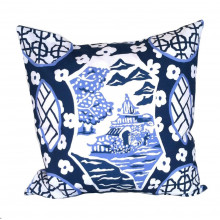 "Canton Blue 22"" Square Pillow | Gracious Style"