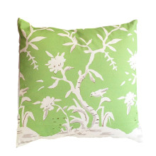 """Cliveden Green 22"""" Square Pillow 