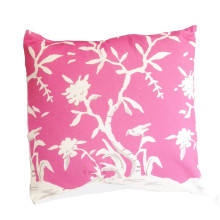 """Cliveden Pink 22"""" Square Pillow 