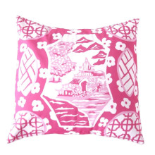 """Canton Pink 22"""" Square Pillow 