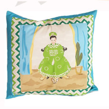 """Empress Turquoise 24"""" Square Pillow 