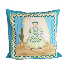 """Emperor Turquoise 24"""" Square Pillow 