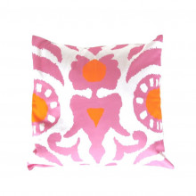 """Pink Agra 22"""" Square Pillow 