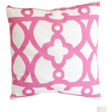 """Pink Ming 22"""" Square Pillow 
