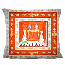"""Red Dog 24"""" Square Pillow 