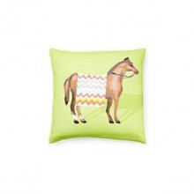"""Show Horse Green 22"""" Square Pillow 