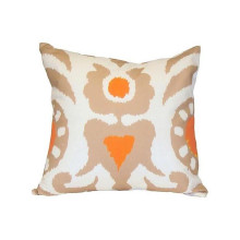 """Taupe Agra 22"""" Square Pillow 