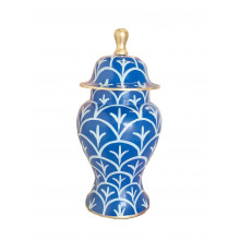 Navy Bedford Ginger Jar Small | Gracious Style