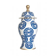 Navy Pavilion Ginger Jar Small | Gracious Style