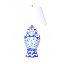 Summer Palace Blue Ginger Jar Table Lamp | Gracious Style