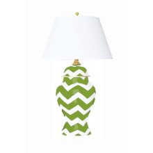 Green Bargello Ginger Jar Table Lamp | Gracious Style