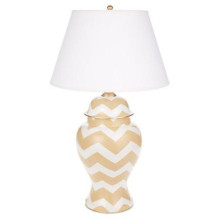 Taupe Bargello Ginger Jar Table Lamp | Gracious Style