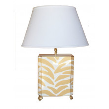 Taupe Zebra Table Lamp | Gracious Style