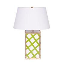Bamboo Green Lattice Table Lamp | Gracious Style