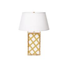 Bamboo Taupe Lattice Table Lamp | Gracious Style